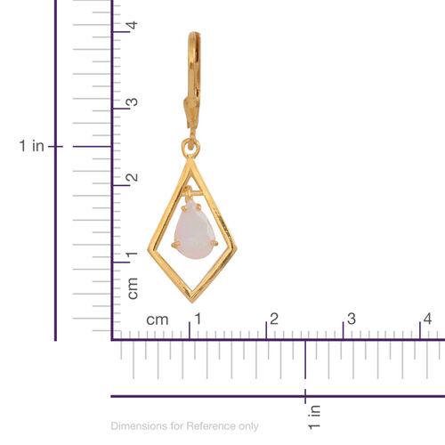 Ethiopian Welo Opal (Pear) Lever Back Earrings in 14K Gold Overlay Sterling Silver 1.000 Ct.