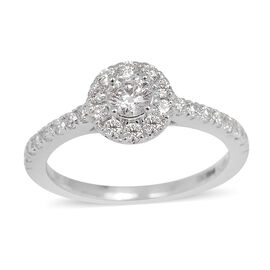 ILIANA 18K W Gold IGI Certified Diamond (Rnd 0.31 Ct) (SI/ G-H) Ring 0.750 Ct.