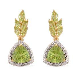 Hebei Peridot (Trl) Earrings in 14K Gold Overlay Sterling Silver 3.750 Ct.