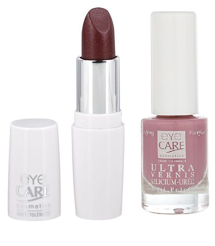 Eyecare cosmetics- Nude Lip colour 650, Ultra silicon nail enamel 1504