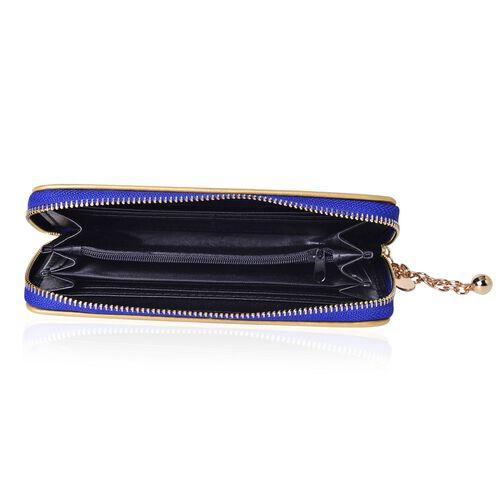 Royal Blue Colour Long Size Wallet (Size 19.5x9.5x3 Cm)