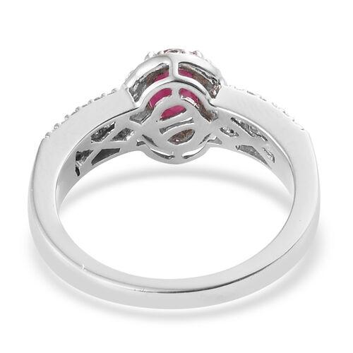 RHAPSODY 950 Platinum 1.50 Carat AAAA Pigeon Blood Burmese Ruby Ring with Diamond VS/E-F