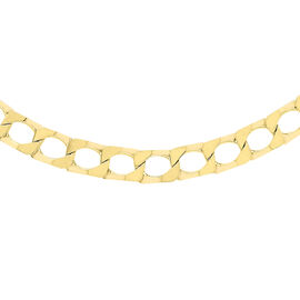 Close Out Deal Italian 9K Y Gold Diamond Cut Flat Square Curb Chain (Size 20), Gold Wt 14.80 Gms.