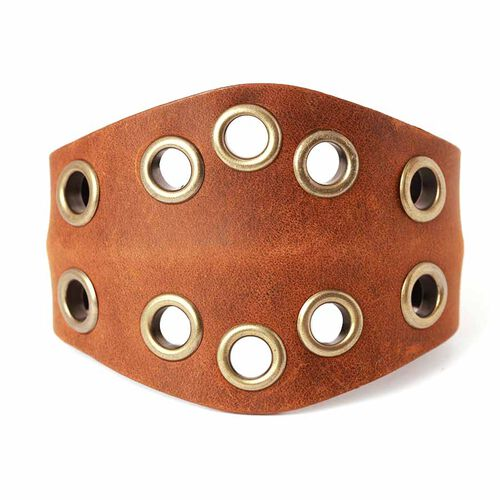 Chocolate Leather Bangle
