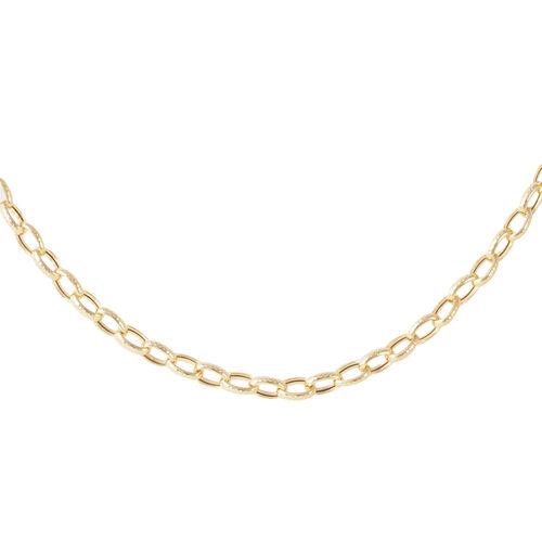 JCK Vegas Collection 9K Y Gold Diamond Cut Belcher Necklace (Size 20), Gold wt. 8.30 Gms.