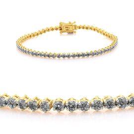Diamond (Rnd) Bracelet (Size 7.5) in 14K Gold Overlay Sterling Silver 2.000 Ct.