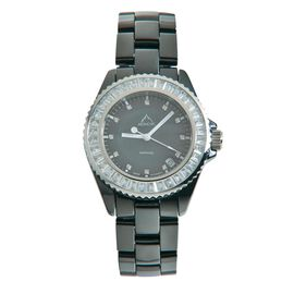 J Francis MONCHIC Sapphire Swarovski Austrian Crystal and Diamond Watch in Stainless Steel