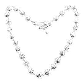 RACHEL GALLEY Sterling Silver Globe Necklace (Size 20), Silver wt 50.85 Gms.