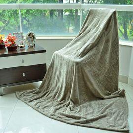 Superfine Microfibre Flannel Blanket Silver (Size 200x150 Cm)