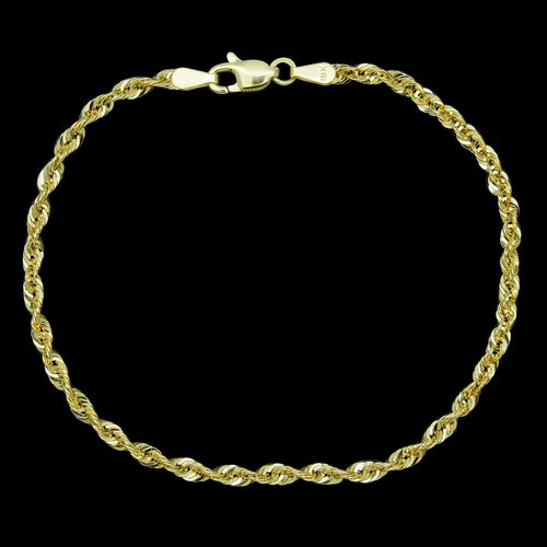 JCK Vegas Collection ILIANA 18K Y Gold Rope Bracelet (Size 7.5)