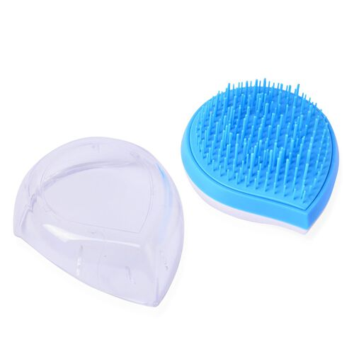 Set of 2 - Blue and Black Colour Ergonomic Styler and Detangler Comb