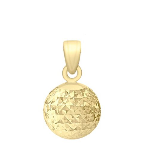 Close Out Deal 9K Y Gold Diamond Cut Pine Pendant