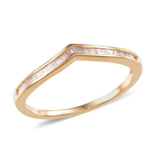 Diamond (Bgt) Wishbone Ring in 14K Gold Overlay Sterling Silver 0.250 Ct.