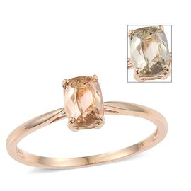 14K Y Gold Natural Turkizite (Cush) Solitaire Ring 1.150 Ct.