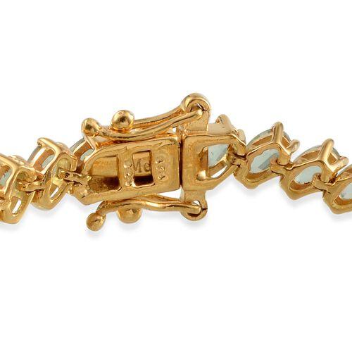 Orissa Green Kyanite (Ovl) Bracelet in 14K Gold Overlay Sterling Silver (Size 7.5) 14.500 Ct.