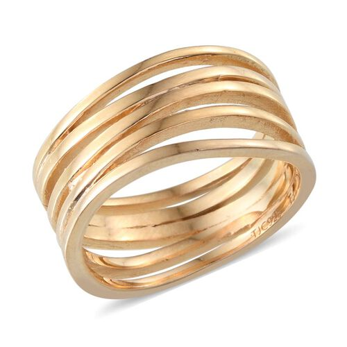 14K Gold Overlay Sterling Silver Ring, Silver wt 5.83 Gms.