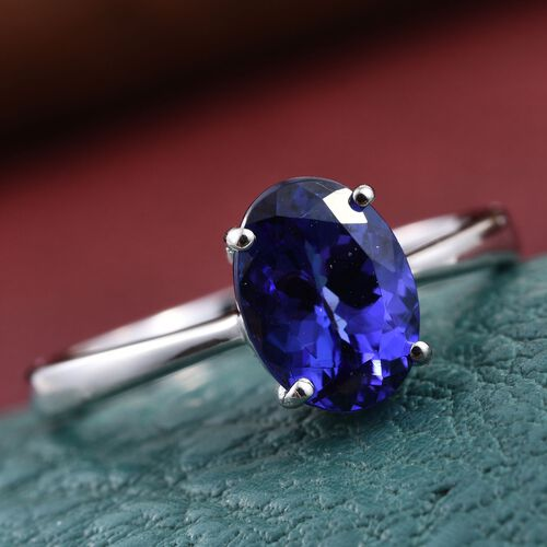 RHAPSODY 950 Platinum AAAA Tanzanite (Ovl) Ring 2.000 Ct.