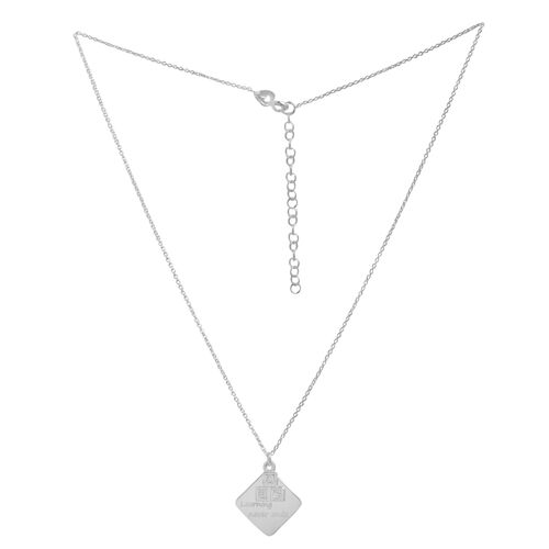 EXPRESS YOURSELF Sterling Silver Learning Never Ends Quote Pendant With Chain (Size 16 with 2 inch Extender)