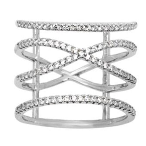 Diamond (Rnd) Ring in Rhodium Plated Sterling Silver