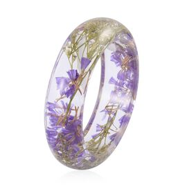 Natural Purple Colour Flower Preserved Bangle (Size 7.75)
