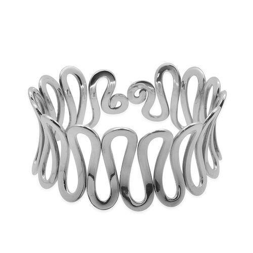 Royal Bali Collection Sterling Silver Bangle (Size 7.5), Silver wt 50.20 Gms.