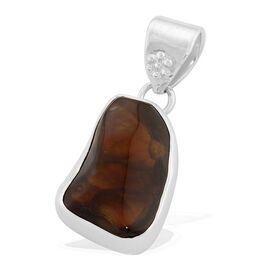 Jewels of India Fire Agate Pendant in Sterling Silver 21.000 Ct.