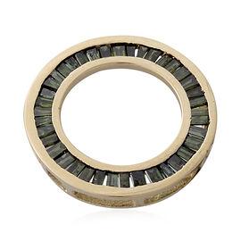 9K Y Gold Green Diamond (Bgt) Circle of Life Pendant 0.500 Ct.