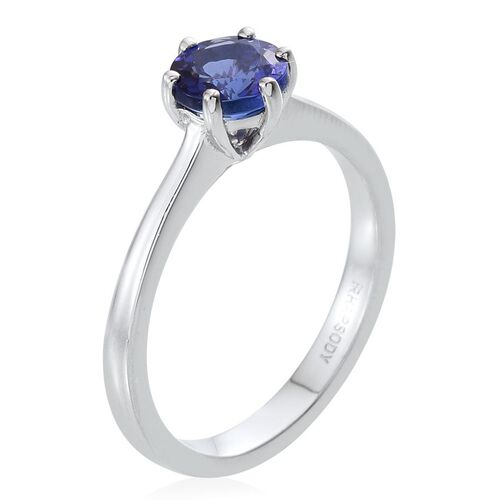 RHAPSODY 950 Platinum AAAA Tanzanite (Rnd) Solitaire Ring 1.000 Ct.