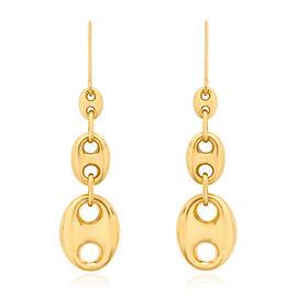 Italian 9K Y Gold Hook Earrings, Gold Weight 3.44 Gram