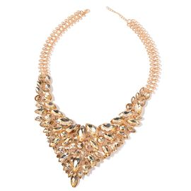 Cascade Collection Golden Sheen Colour Watefall Necklace (Size 20 with 2 inch Extender) in Gold Tone