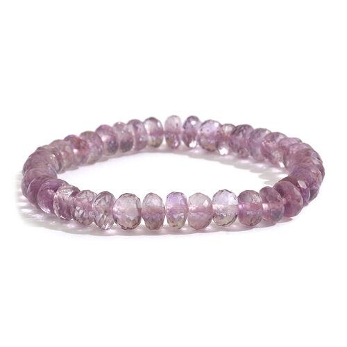 Rose De France Amethyst (Rnd) Stretchable Beads Bracelet (Size 7) 80.000 Ct.