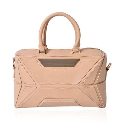 (Option 1) Anissa Beige Colour Tote Bag (Size 32x20x17 Cm)