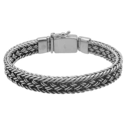 Royal Bali Collection Hand Made Sterling Silver Bracelet (Size 8), Silver wt 42.50 Gms.