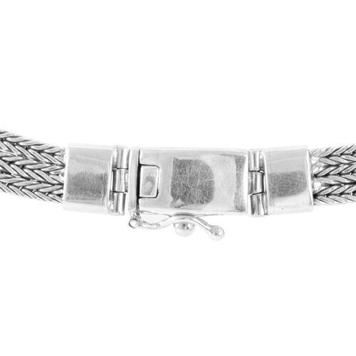 Royal Bali Collection Handmade Sterling Silver Tulang Naga Necklace (Size 17), Silver wt 64.20 Gms.