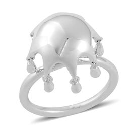 LucyQ Umbrella Ring in Rhodium Plated Sterling Silver 5.18 Gms.
