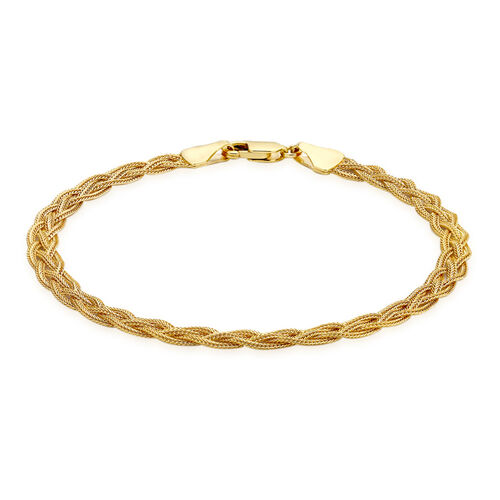 Close Out Deal 9K Yellow Gold Foxtail Chain Bracelet (Size 7.5)