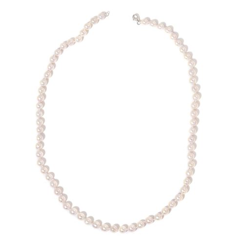 ILIANA 18K White Gold AAAA Japanese Akoya Pearl (Rnd 5-6mm) Necklace (Size 18)