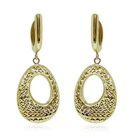 Limited Available-9K Y Gold Diamond Cut Hoop Earrings, Gold wt 3.76 Gms.