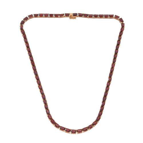 Mozambique Garnet (Cush) Necklace (Size 18) in 14K Gold Overlay Sterling Silver 50.000 Ct.