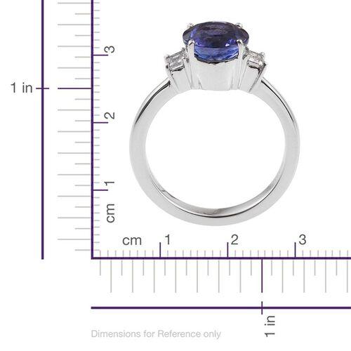 RHAPSODY 950 Platinum 2.75 Carat AAAA Tanzanite Round, Diamond VS E-F Ring.