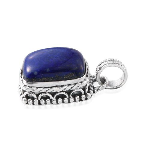 Lapis Lazuli (Cush) Pendant in Sterling Silver 21.500 Ct.