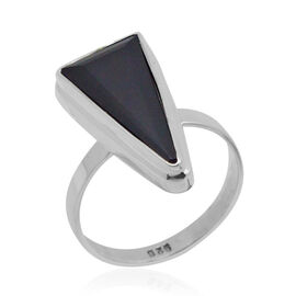 Royal Bali Collection Boi Ploi Black Spinel (Trl) Solitaire Ring in Sterling Silver 7.450 Ct.