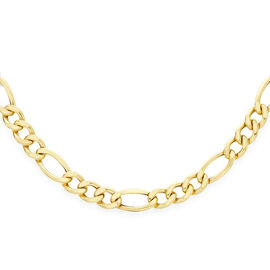 JCK Vegas Collection 9K Yellow Gold Figaro Chain Size 20 Inch, 14.60 Gms.