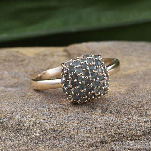 9K Y Gold Narsipatnam Alexandrite (Rnd) Cluster Ring 1.500 Ct.