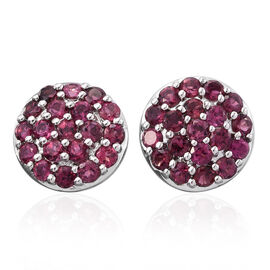 RHAPSODY 950 Platinum Pink Tourmaline (Rnd) Stud Earrings (with Screw Back) 1.500 Ct.