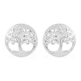 Thai Sterling Silver Tree Stud Earrings (with Push Back)