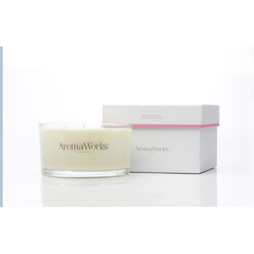 AROMAWORKS-Large 3 Wick Candle- Nuture 400g