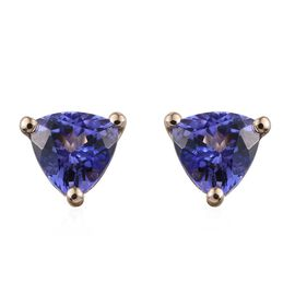 9K Y Gold Tanzanite (Trl) Stud Earrings (with Push Back)1.000 Ct.