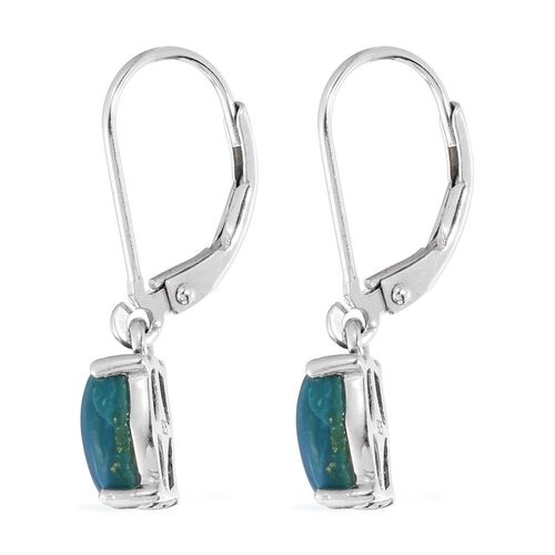 Opalina (Cush) Lever Back Earrings in Platinum Overlay Sterling Silver 2.500 Ct.