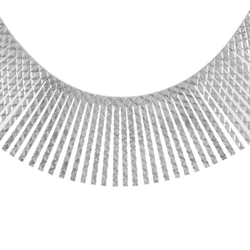 Italian Designer Inspired Rhodium Plated Sterling Silver Cleopatra Necklace (Size 17), Silver wt 42.36 Gms.